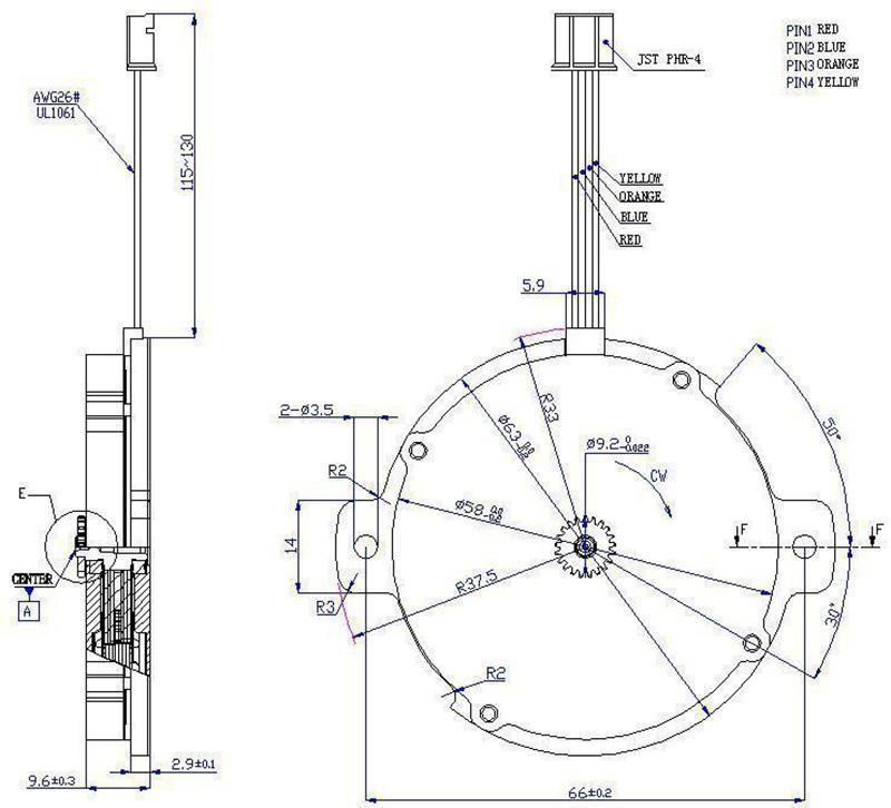 63mm slim pancake hybrid stepper motor